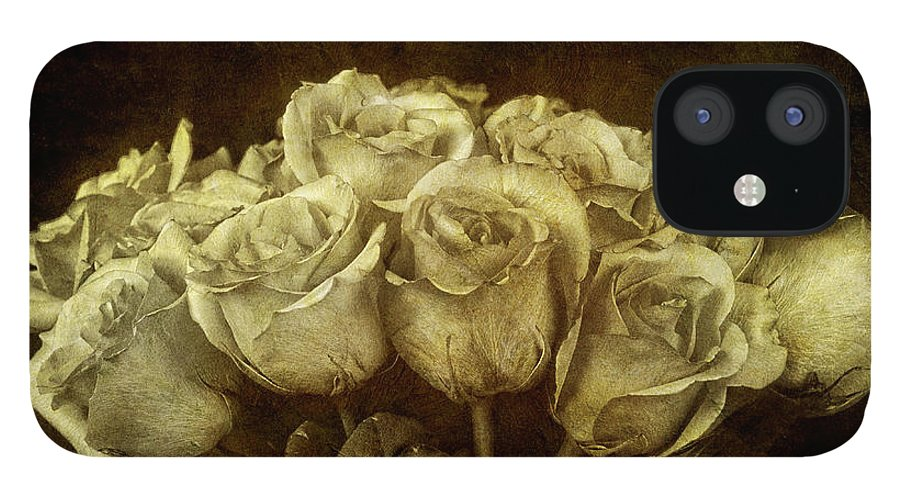 Bouquet IPhone 12 Case featuring the photograph Vintage Roses by Keith Gondron