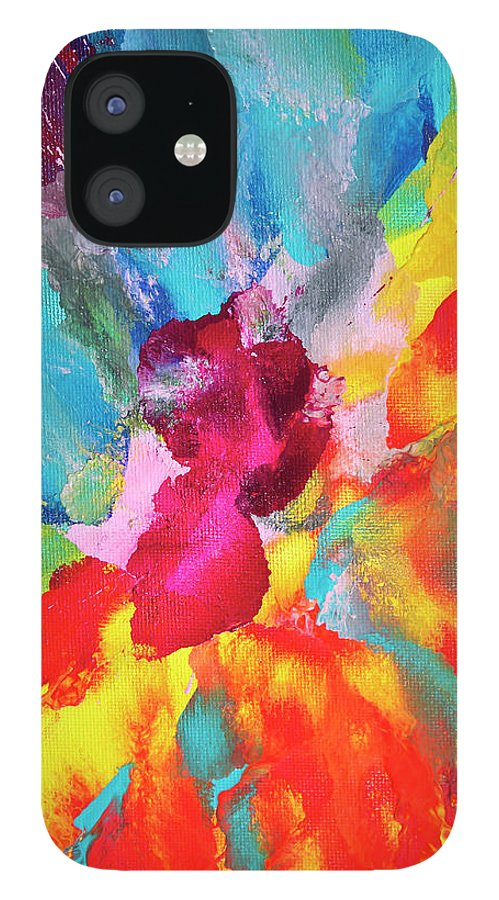 Art iPhone 12 Case featuring the digital art Vivid Multicolored Abstract Art On by Cstar55