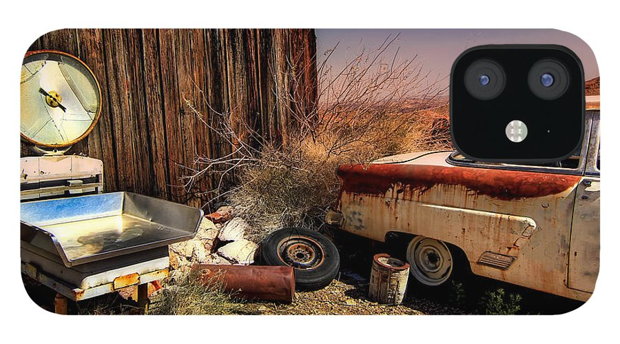 Car IPhone 12 Case featuring the photograph Waiting on a Woman by Brenda Giasson