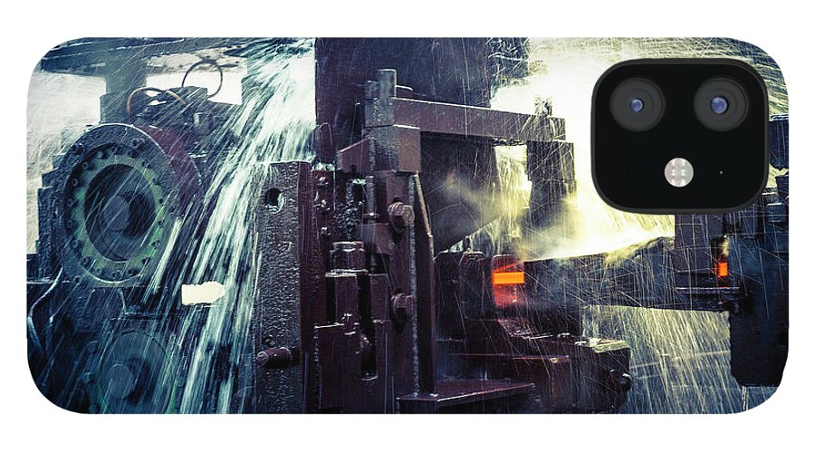Metalwork IPhone 12 Case featuring the photograph Water Cooling Of Roling Mill Line by Chinaface