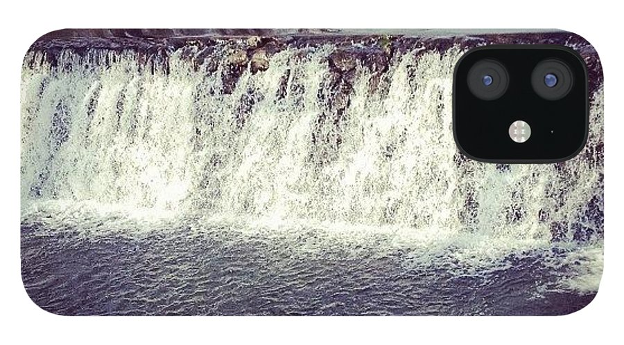 Beautiful IPhone 12 Case featuring the photograph #waterfall #newyork #water #nature by Amber Campanaro