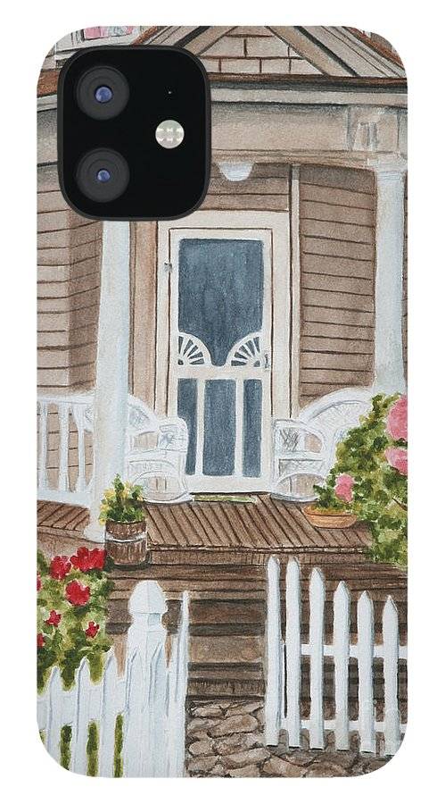 Architecture IPhone 12 Case featuring the painting Welcome by Regan J Smith