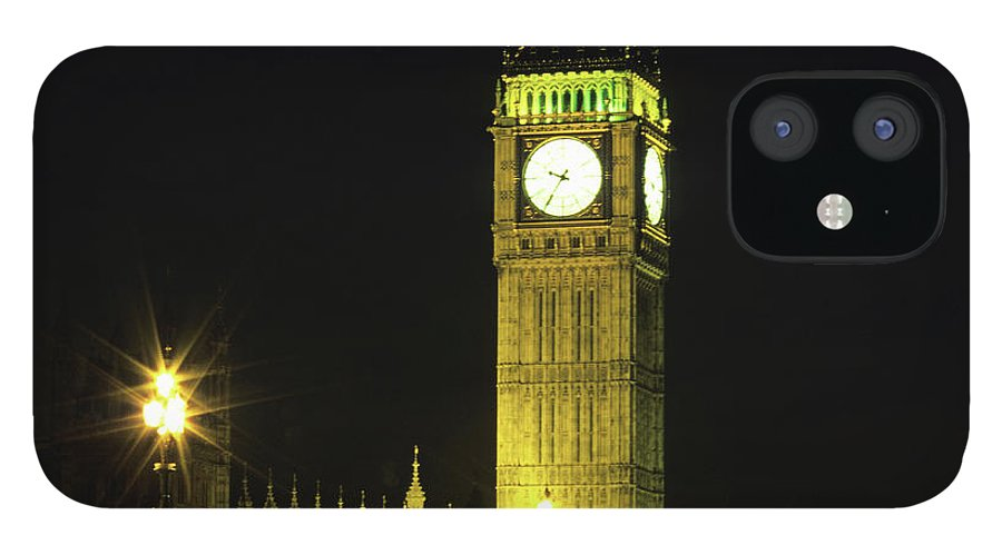 Gothic Style IPhone 12 Case featuring the photograph Westminster Bridge And Big Ben At by Hisham Ibrahim