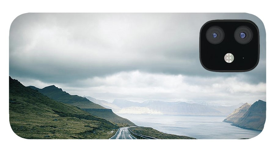 Tranquility IPhone 12 Case featuring the photograph Wet Road by Annelogue Photography