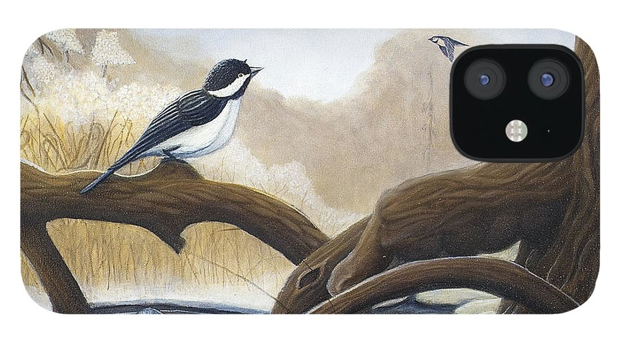 Rick Huotari IPhone 12 Case featuring the painting Where are you going by Rick Huotari