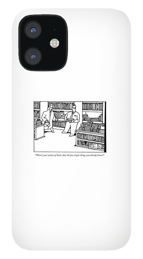 Where's Your Section Of Books That Tell IPhone 12 Case