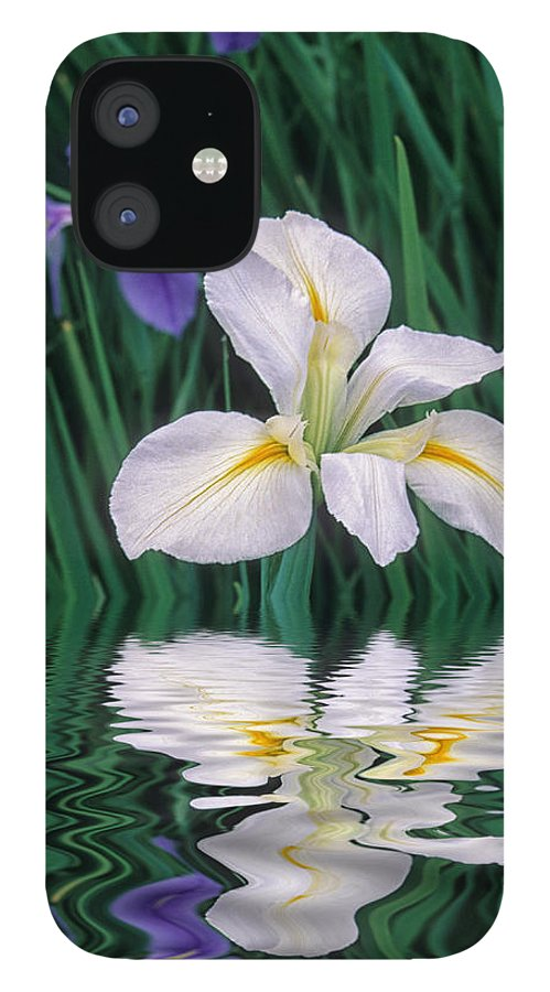 Flower IPhone 12 Case featuring the photograph White Iris by Keith Gondron