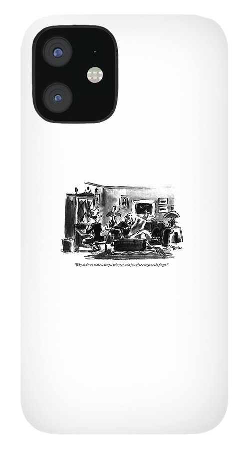 Why Don't We Make It Simple This Year IPhone 12 Case