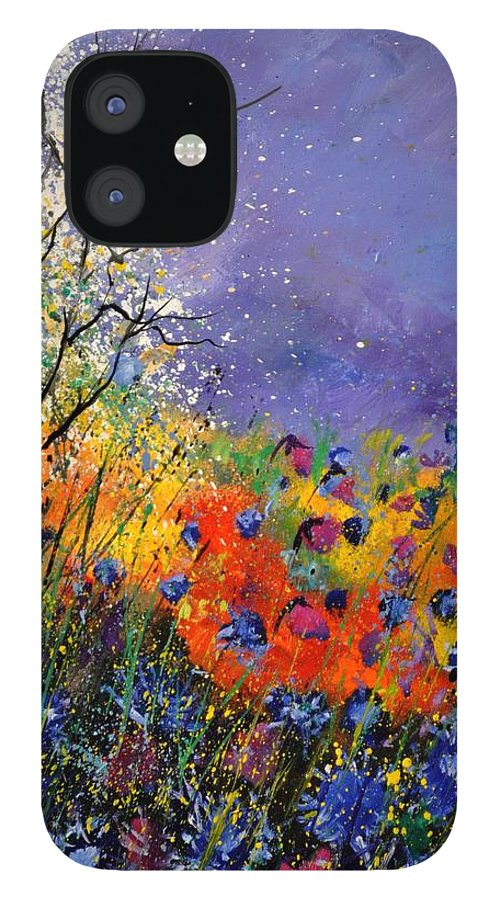 Landscape iPhone 12 Case featuring the painting Wild Flowers 4110 by Pol Ledent