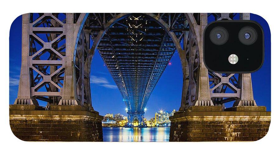 Williamsburg Bridge IPhone 12 Case featuring the photograph Blue Punch by Az Jackson