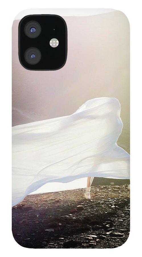 Ballet Dancer IPhone 12 Case featuring the photograph Windy Ballerina by Henrik Sorensen