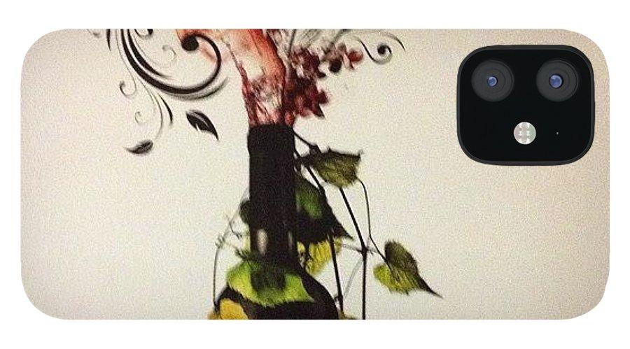 Wallart IPhone 12 Case featuring the photograph #wine #bottle #homedecor #wallart by Amber Campanaro