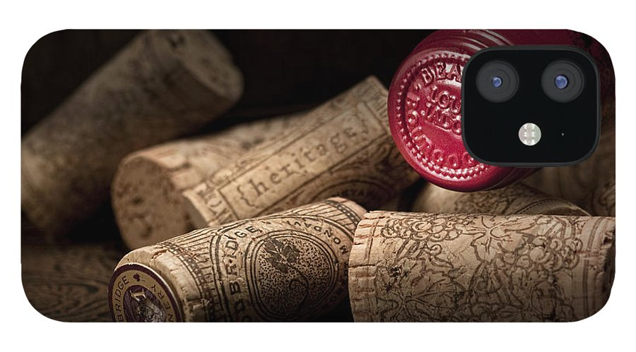 Wine Cork IPhone 12 Case featuring the photograph Wine Corks Still Life IV by Tom Mc Nemar