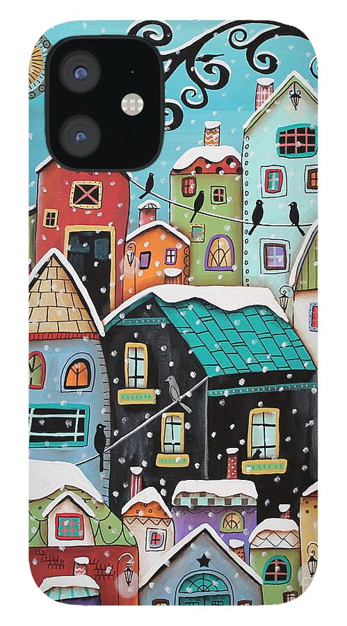 Winter IPhone 12 Case featuring the painting Winter City by Karla Gerard
