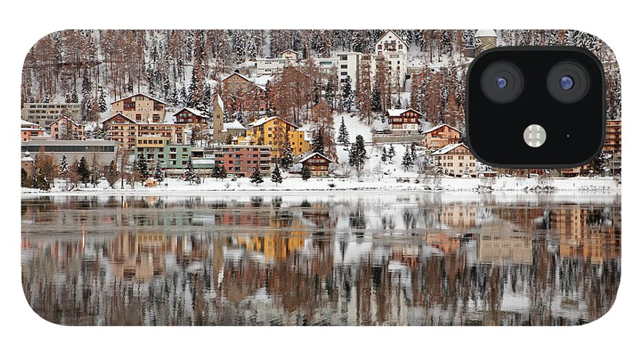Holiday iPhone 12 Case featuring the photograph Winter View Of Saint Moritz by Massimo Pizzotti