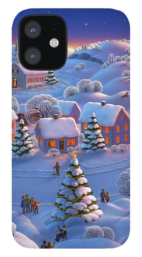 Winter Wonderland IPhone 12 Case featuring the painting Winter Wonderland by Robin Moline