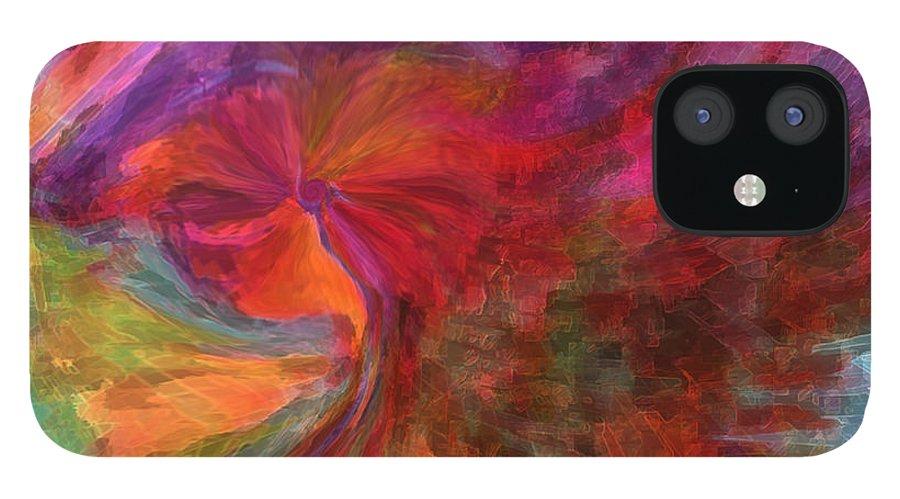 Woman Art IPhone 12 Case featuring the digital art Women by Linda Sannuti