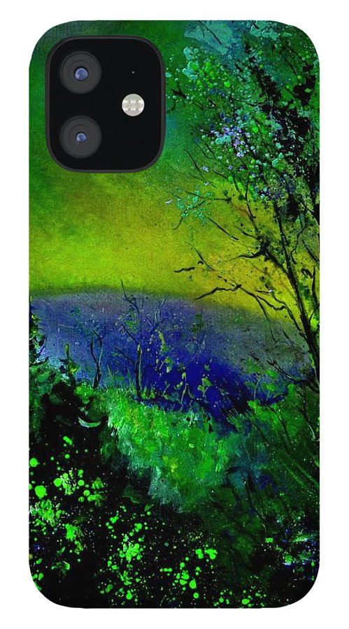 Wood IPhone 12 Case featuring the painting Wood 957 by Pol Ledent