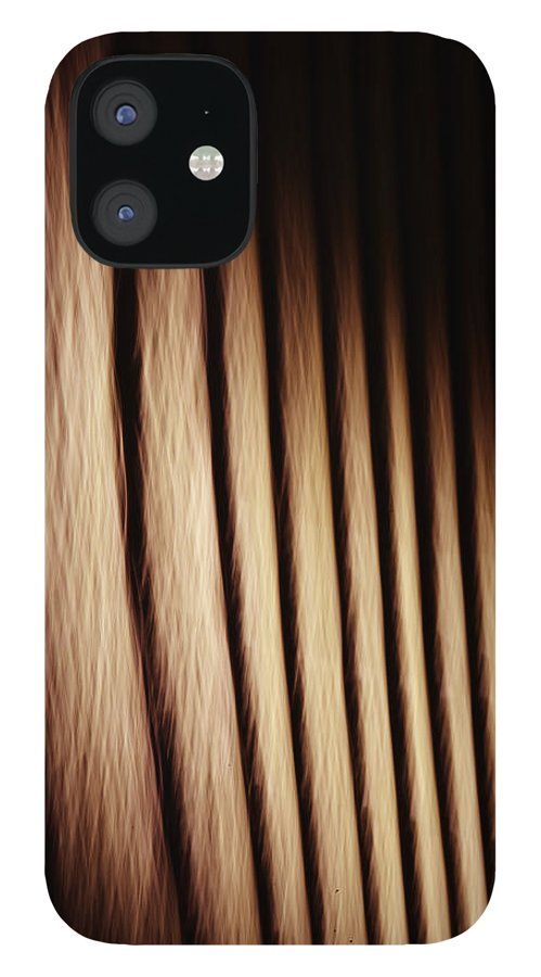 Wood IPhone 12 Case featuring the photograph Wood in the Shadows by Keith Gondron