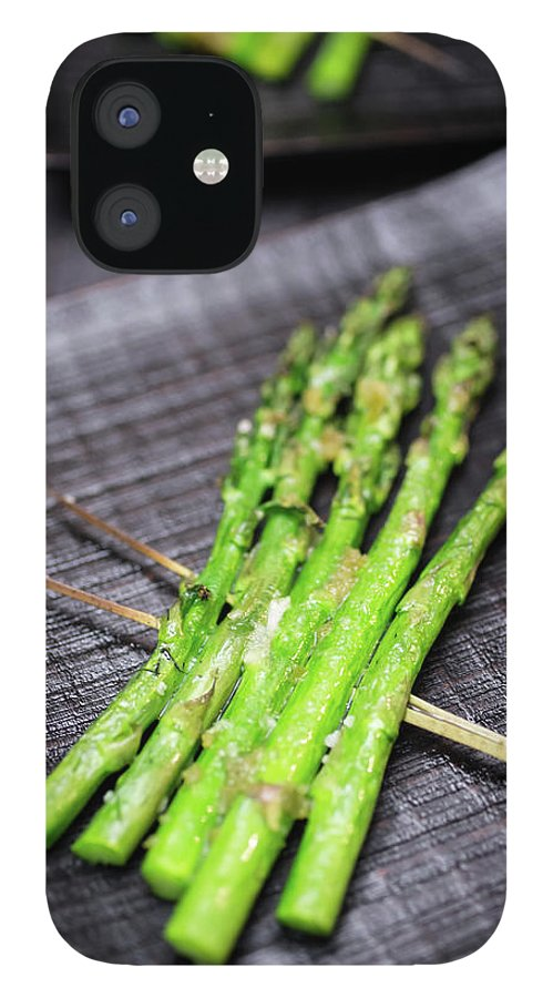 Serving Dish IPhone 12 Case featuring the photograph Yakitori Asparagus by Katya Lyukum