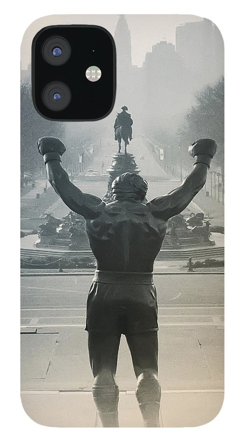 Rocky IPhone 12 Case featuring the photograph Yo Adrian by Bill Cannon