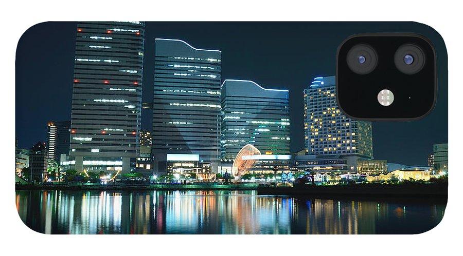 Minato Mirai IPhone 12 Case featuring the photograph Yokohama Minato-mirai by Kaoru Hayashi