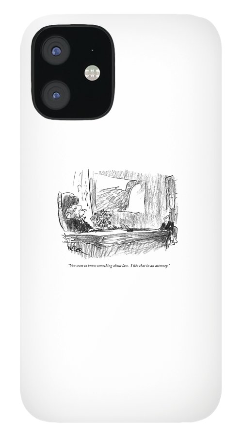 You Seem To Know Something About Law.  I Like iPhone 12 Case