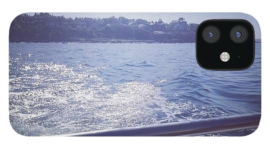 Bangor IPhone 12 Case featuring the photograph :) #sea #boat #bangor by Amy Reid 💜