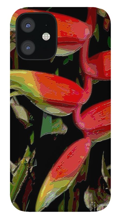 Digital Designs IPhone 12 Case featuring the photograph Heleconia by Mark Gilman