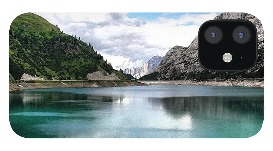 Dolomiti IPhone 12 Case featuring the photograph Lago Fedaia by Luisa Azzolini