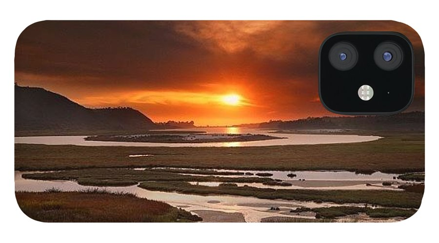 IPhone 12 Case featuring the photograph Long Exposure Sunset Looking Across The by Larry Marshall