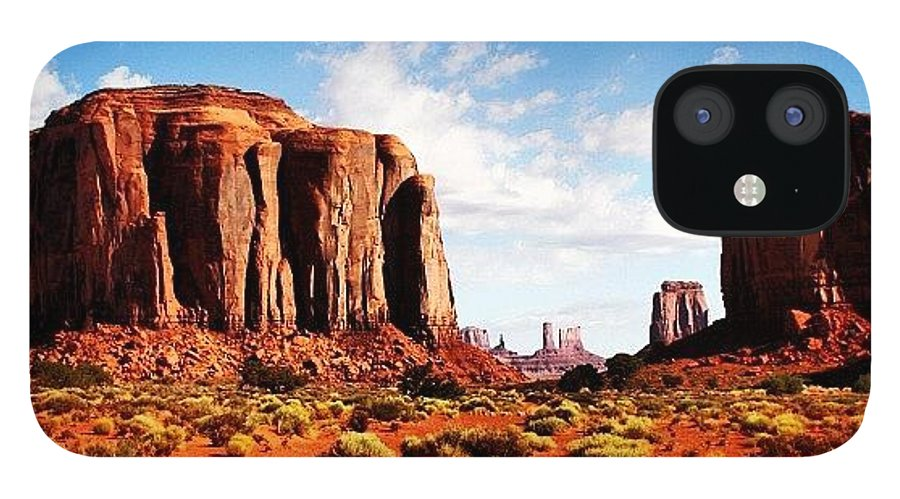 Beautiful IPhone 12 Case featuring the photograph Monument Valley by Luisa Azzolini