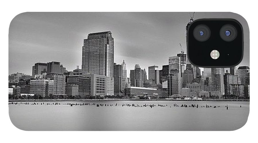 IPhone 12 Case featuring the photograph Long Exposure Panorama Of The Manhattan by Larry Marshall