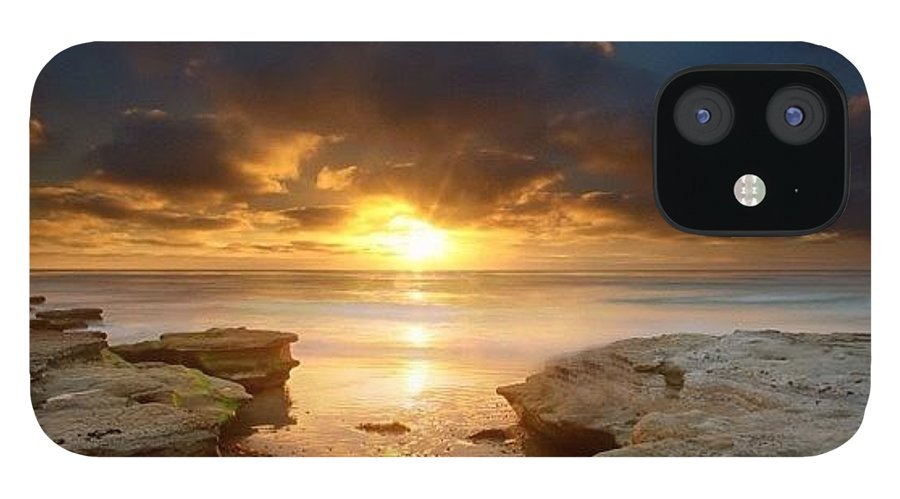 IPhone 12 Case featuring the photograph Long Exposure Sunset In North San Diego by Larry Marshall