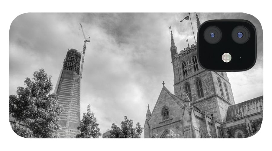 Shard IPhone 12 Case featuring the photograph New and Old by Chris Day