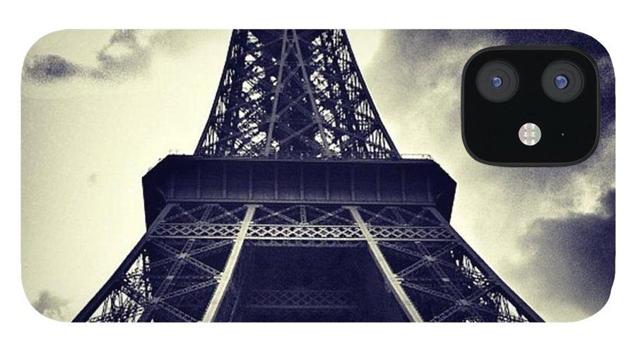 Buildings IPhone 12 Case featuring the photograph #paris by Ritchie Garrod
