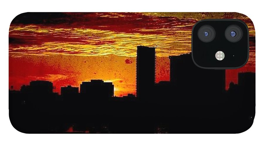 Building IPhone 12 Case featuring the photograph And Yet Another Day Closes by Matthew Blum