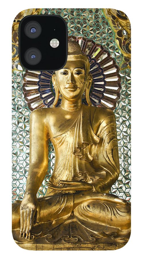 Buddha IPhone 12 Case featuring the photograph Buddha in Glass by Michele Burgess