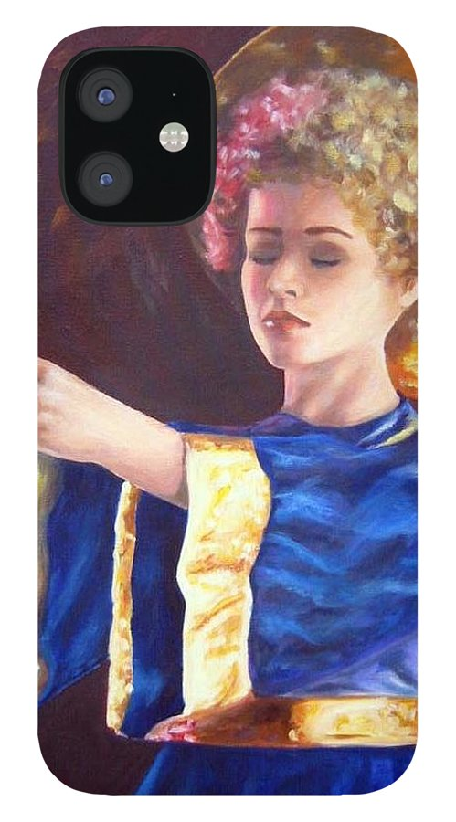 Portrait IPhone 12 Case featuring the painting Candlemass by Anne Kushnick