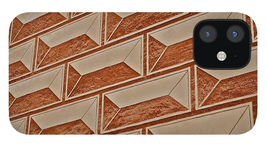 Cement Block Wall Design IPhone 12 Case featuring the photograph Cement Block Wall Design by Kirsten Giving