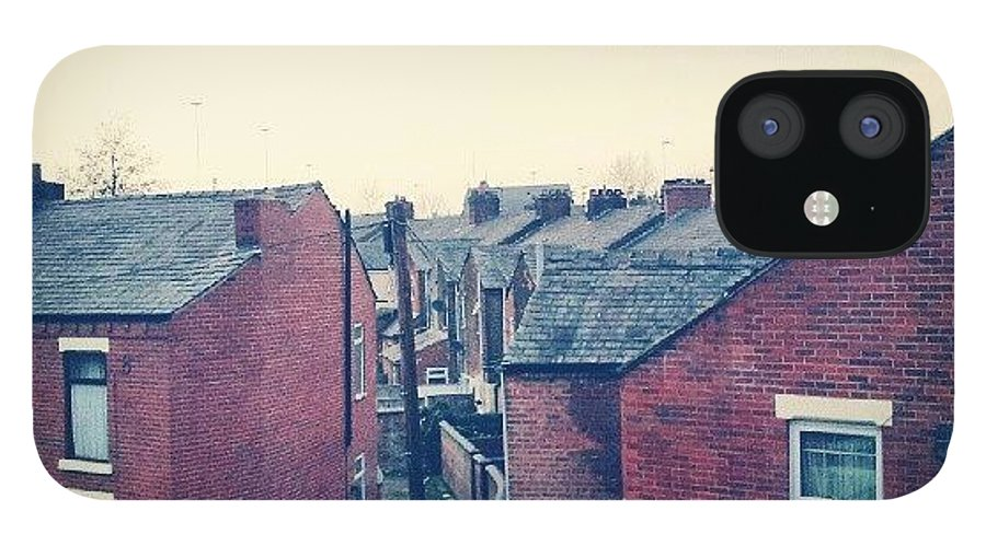 Salford IPhone 12 Case featuring the photograph Different Angle! #buildings #houses by Abdelrahman Alawwad
