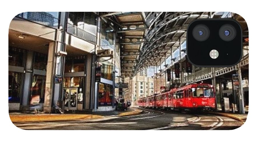 IPhone 12 Case featuring the photograph Downtown San Diego Trolley Station by Larry Marshall