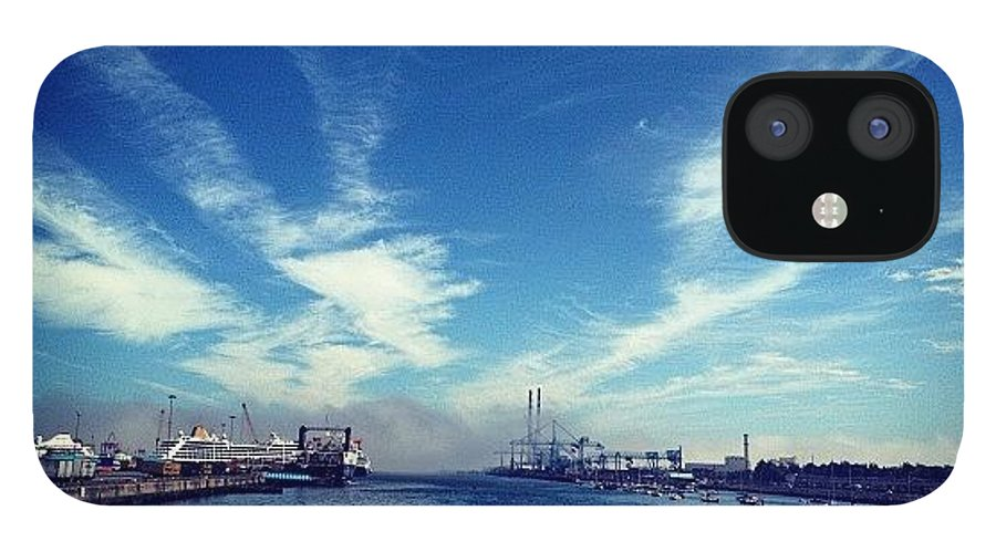 Photography IPhone 12 Case featuring the photograph #dublin 1 #photography Seconds Apart by David Lynch