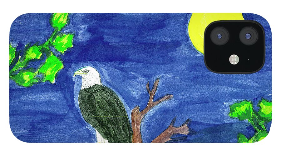 IPhone 12 Case featuring the painting Eagle by Harry Richards