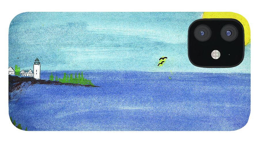 IPhone 12 Case featuring the painting Flight of Hope by Harry Richards