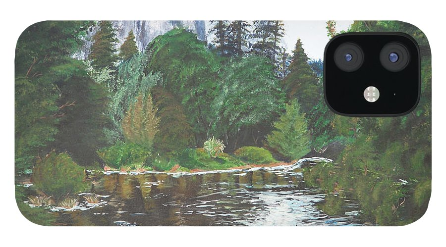 Yosemite iPhone 12 Case featuring the painting Frog's Eye View by Travis Day