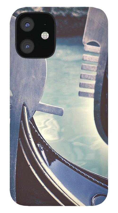 Swords IPhone 12 Case featuring the photograph gondolas - Venice by Joana Kruse
