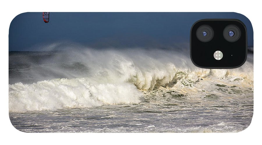 Kite Surfer IPhone 12 Case featuring the photograph Hanging in there by Sheila Smart Fine Art Photography