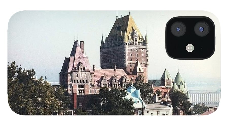 Chateau Photograph IPhone 12 Case featuring the photograph Hotel Frontenac Quebec Canada by Cedric Hampton