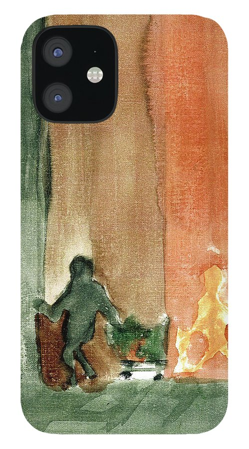IPhone 12 Case featuring the painting In the Shadows by Harry Richards